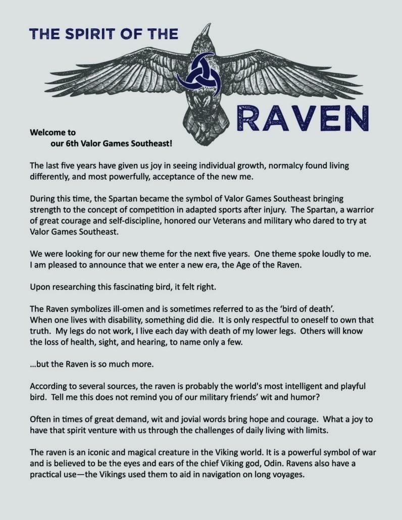 The Spirit Of The Raven Valor Games Southeast 2018 Bridge Ii Sports