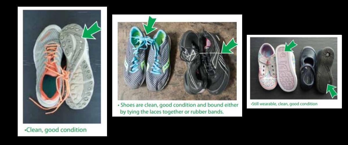 shoe descriptions