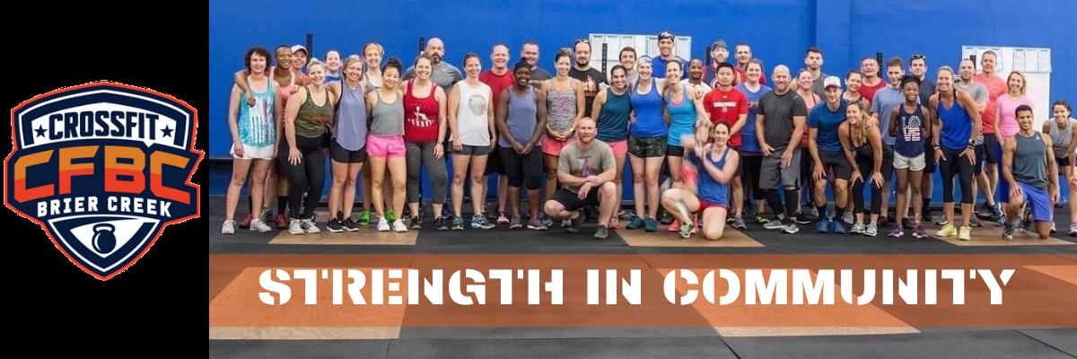 Members of CrossFit Brier Creek group photo