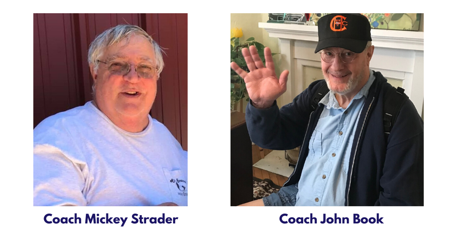 Pictures of Coaches Mickey Strader and John Bookd
