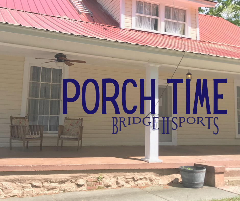 picture of Bridge 2 Sports office with text Porch Time and Bridge 2 Sports logo