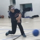 jessica playing goalball