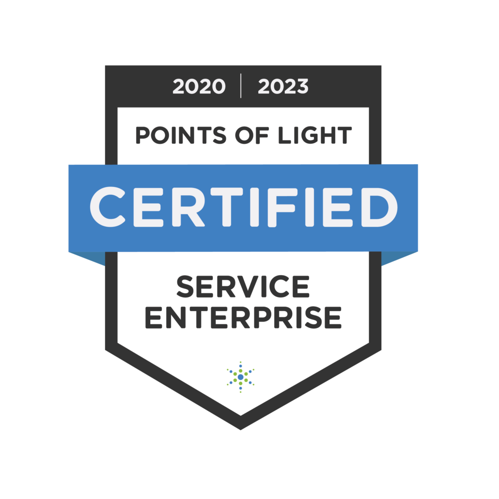 logo Points of Light Certified Service Enterprise 2020 to 2023