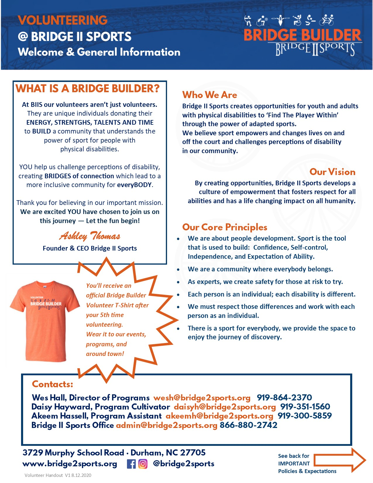 Image of Volunteer Handout- Click for PDF