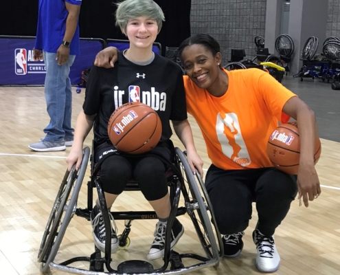 Jillian and Swin Cash at Jr NBA Day 2019