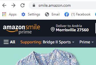 Image of AmazonSmile homepage