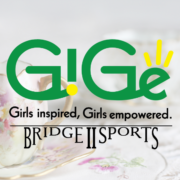 New GiGe logo tea party background
